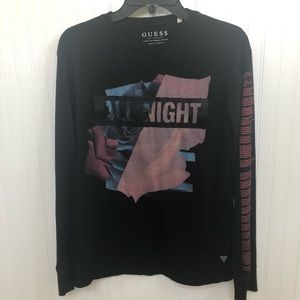 Guess All Night Black Graphic T-Shirt - XS